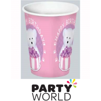 Bears Birthday Pink Paper Cups (8)
