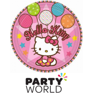 "Hello Kitty 7"" Paper Plates (8)"
