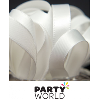 White Satin Ribbon (22.86m)