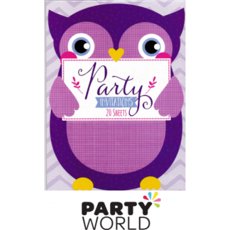 Party Invitations Hoot Owl (20)