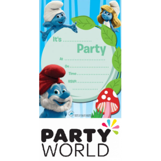 Smurfs Party Invitations (10)