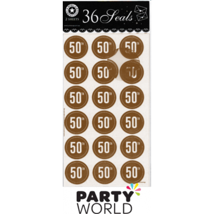 50th Birthday Seal Stickers (36)