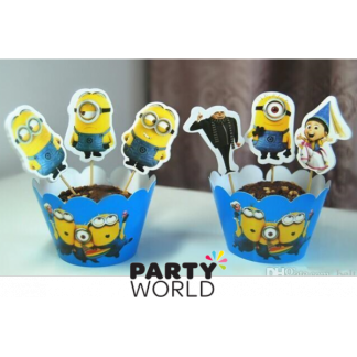 Minion Cake Toppers and Wraps (12)