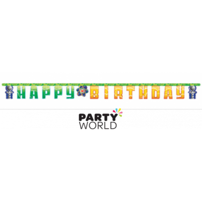Mad Scientist Happy Birthday Jointed Banner