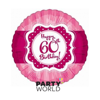 Perfectly Pink 60th Birthday Foil Balloon Pink