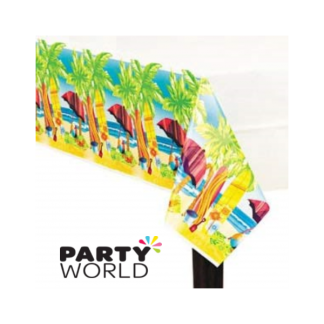 Surfs Up Plastic Table Cover