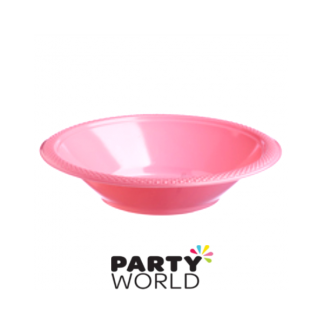 "Hot Pink Plastic Bowl 7"" (10)"