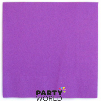 Lavender / Purple Beverage Napkin (25)