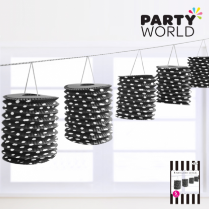 Black Dotty Lantern Garland