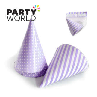 Purple Party Hats (4)