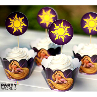 Rapunzel Cupcake Wraps & Toppers (12)