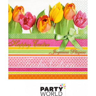 Tulips And Stripes Easter Luncheon Napkins (20)