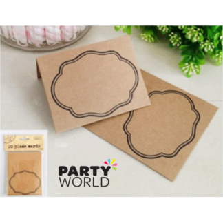 Kraft Paper Place Cards (20)