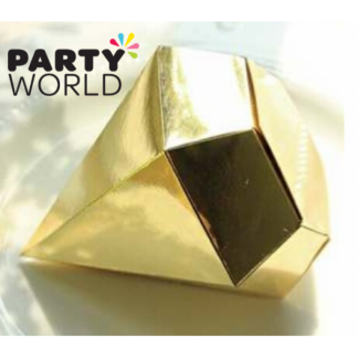 Gold Diamond Favor Boxes (10)