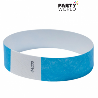 Baby Blue Disposable Tyvek Security Wristbands (10)
