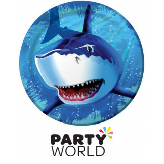 Shark Splash Party Paper Plates 9in (8)
