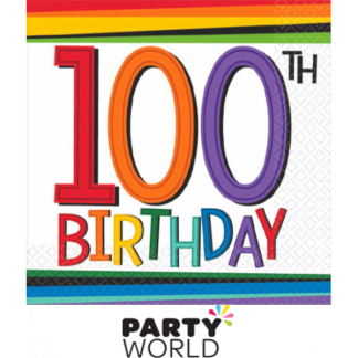 100th Birthday Beverage Napkins (16)