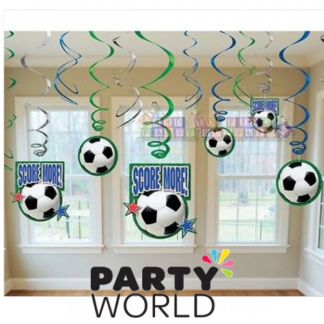 Soccer Hanging Swirl Decorations (12)