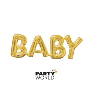 Baby Foil Balloon Gold (air fill only)