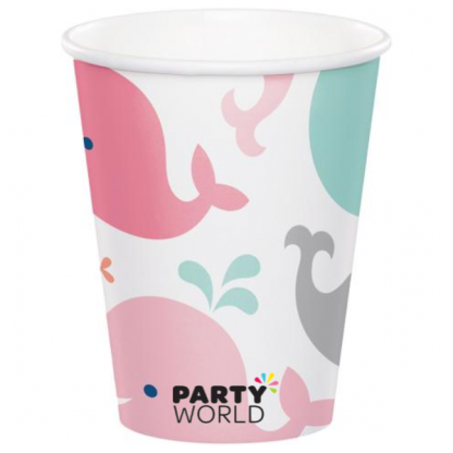 Lil Spout Whale Girl Paper Cups (8)