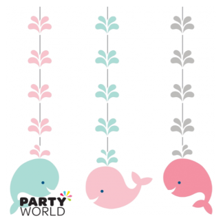 Lil Spout Whale Hanging Cutouts Pink