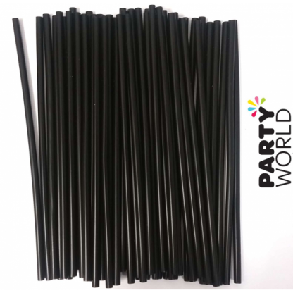 Black Cocktail Straws (150pk)