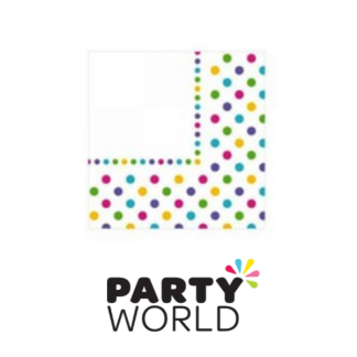 Rainbow Dots Luncheon Napkins (12)
