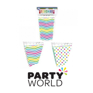 Rainbow Dots Stripe Chevron Popcorn Boxes (6)