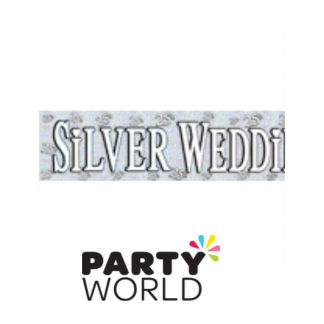 25th Silver Wedding Anniversary Banner