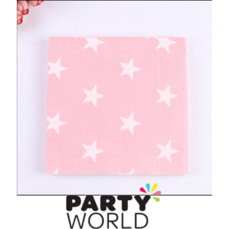 Pink Star Luncheon Napkins (20)