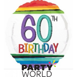 60th Birthday Foil Balloon 17""
