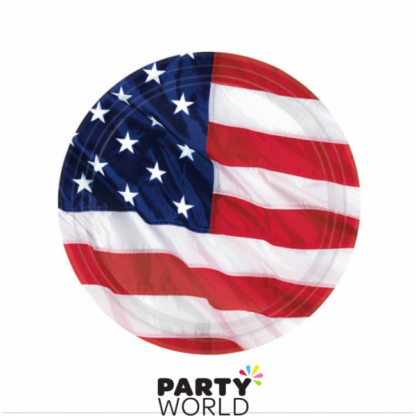 USA Flying Colors Paper Plates 7in (8)