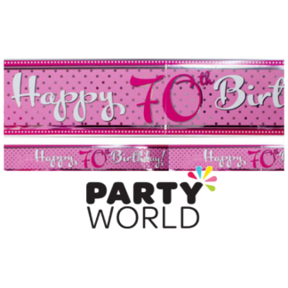 Happy 70th Birthday Pink Foil Banner