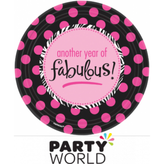 "Another Year Fabulous 7"" Paper Plates (8)"