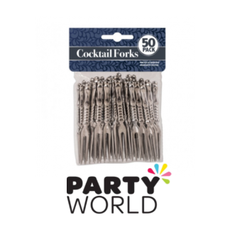 Silver Cocktail Forks (50)