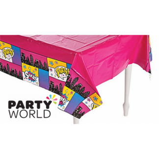 Super Hero Girl Plastic Tablecover