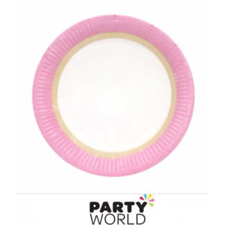 Pink Sorbet Paper Plates 9in (12)