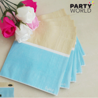 Blue Sorbet Luncheon Napkins (20)