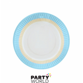 Blue Sorbet Paper Plates 9in (12)