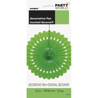 Green Decorative Fan 16in