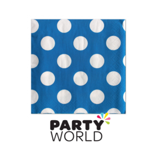 Polka Dot Luncheon Napkin (16) Royal Blue