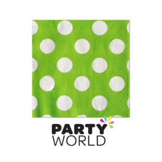 Polka Dot Luncheon Napkin (16) Lime Green