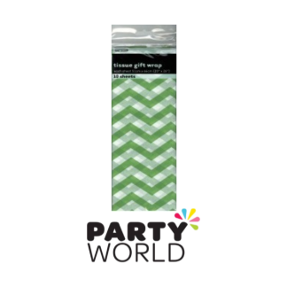 Tissue Gift Wrap Chevron Lime Green (10)