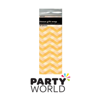Tissue Gift Wrap Chevron Yellow (10)