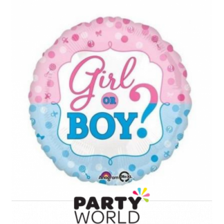 Girl Or Boy Foil Balloon 17in