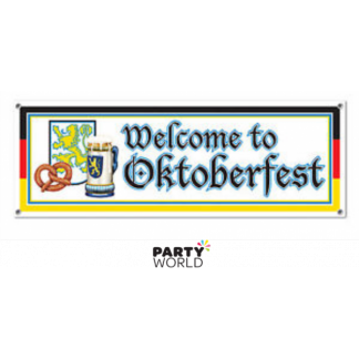 Welcome to Oktoberfest Jumbo Sign Banner