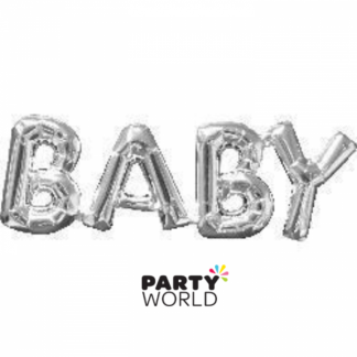 Baby Foil Balloon Silver (air fill only)