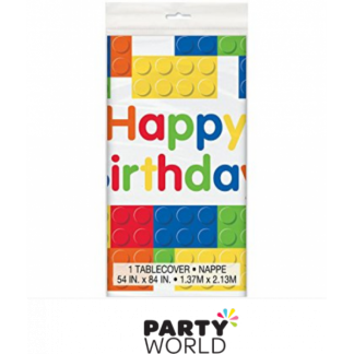 Lego Building Blocks Birthday Plastic Table Cover