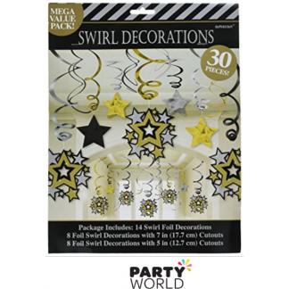 Hollywood Star Swirl Decorations Mega Pack (30)