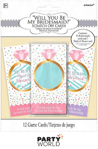 bridesmaid scratch cards